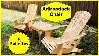 Cedar Adirondack Chair And Patio Set Part 2