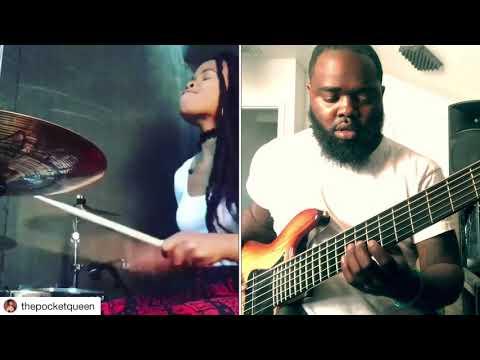 "Taylor Gordon on Drums X 6 Strangs on Bass Korey Mickie ""Live Through It"" - Overflow"