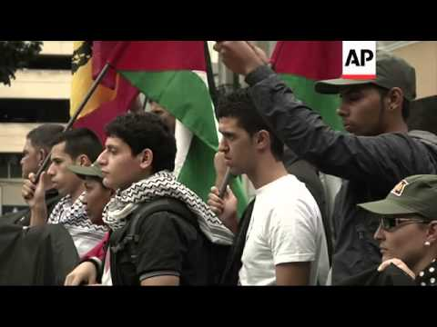 Demo in support of Palestinians as violence escalates in Middle East