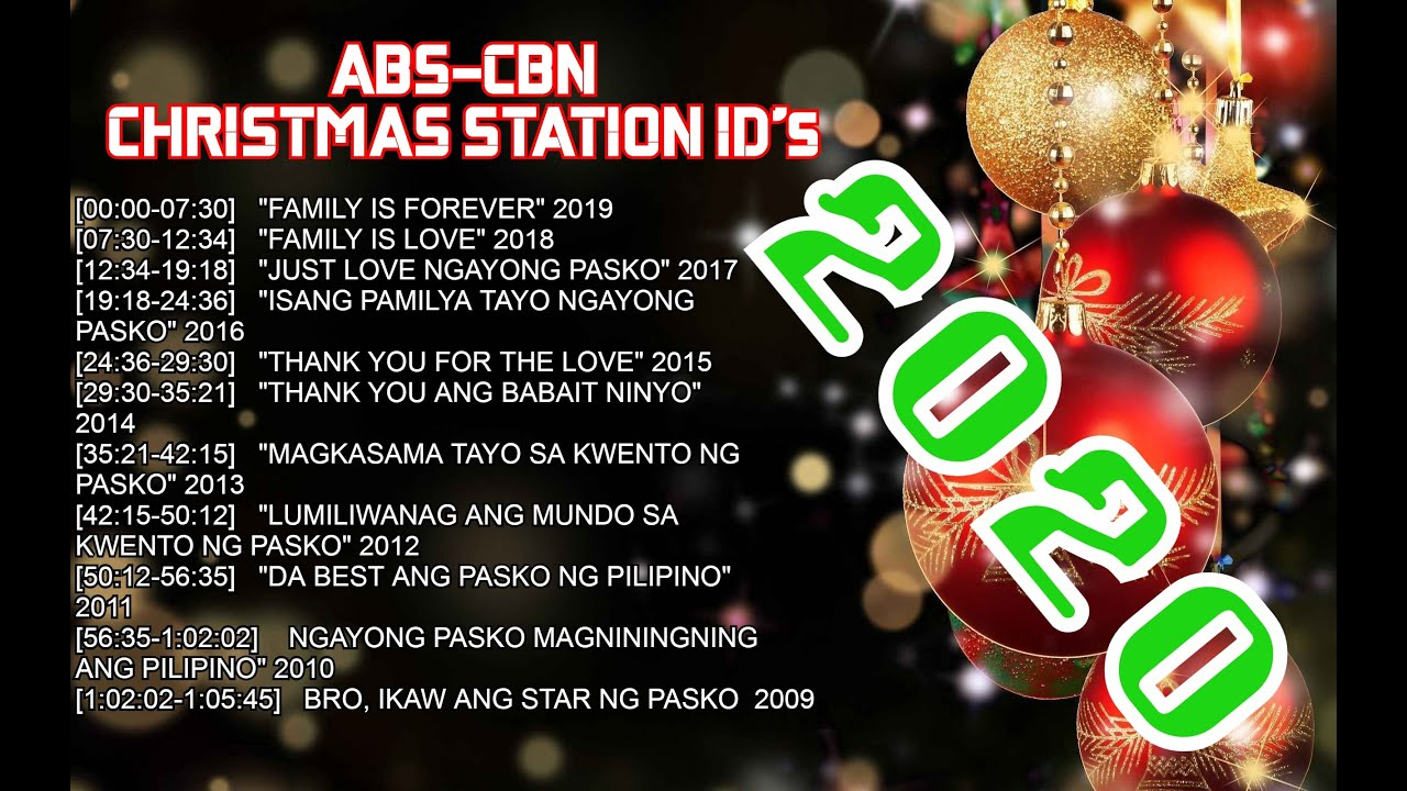ABS CBN Christmas Station ID NON STOP (2009 2020)   YouTube