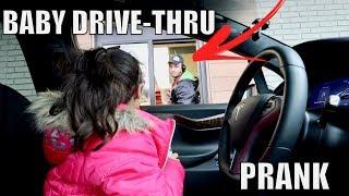 BABY DRIVE THRU PRANK!! Video