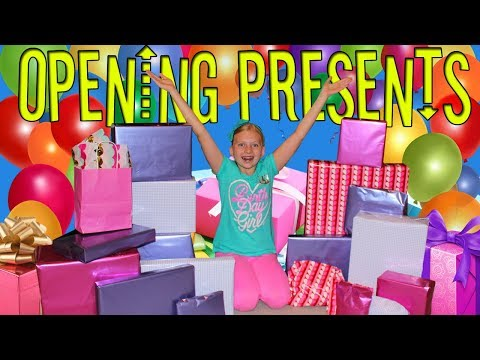 Birthday Morning Present Opening -- Alyssa's 11th Birthday!!
