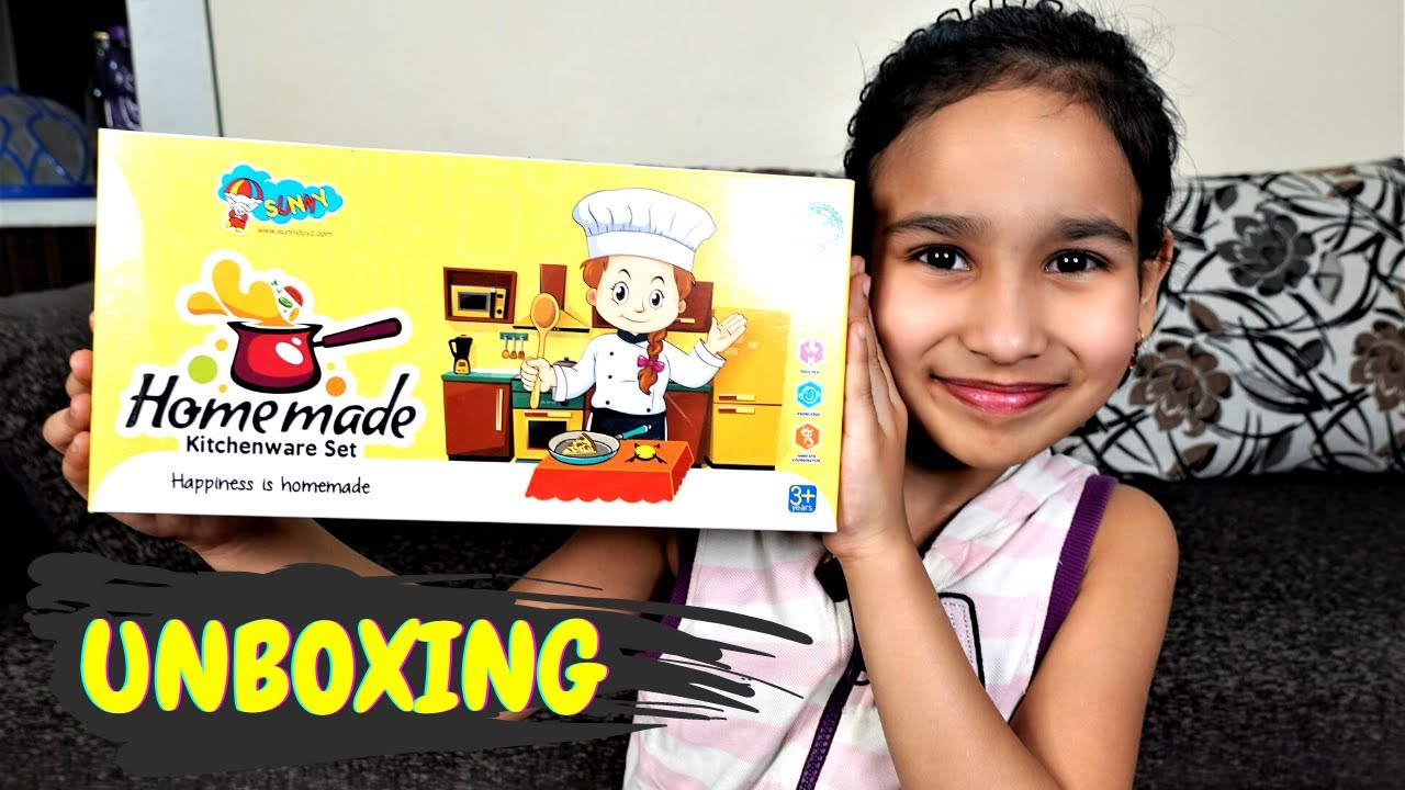 Steel Mini Kitchen set UNBOXING / FOR REAL COOKING /| #LearnWithPari #Aadyansh
