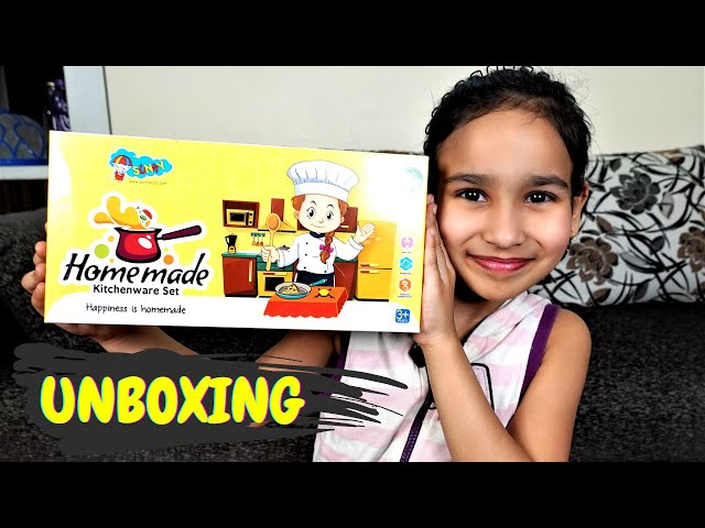 Steel Mini Kitchen set UNBOXING / FOR REAL COOKING /  #LearnWithPari #Aadyansh