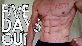 5 Days Out | My Final Workout | Peak Week | Natural Mens Physique
