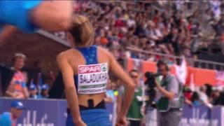 Ольга Саладуха. Тройной прыжок. Финал 1-я попытка (14 м 00 см). Чемпионат Европы-2016.