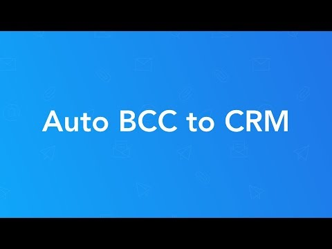 How To Enable BCC to CRM (Gmail) - Salesforce