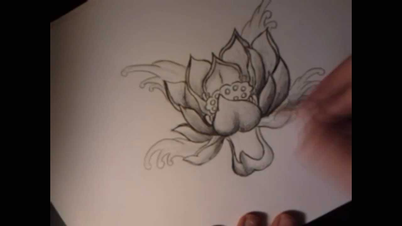 Speed drawing flor de loto  YouTube
