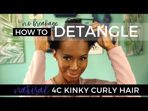 💗 How to Wash & Detangle Kinky Curly 4C Hair + Kimberly Elise Naturals Review 💗