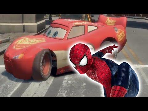 Spider-Man and Machine McQueen