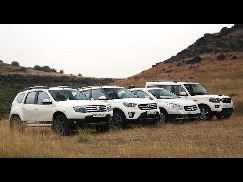 Compact SUVs Shootout | Creta vs S-Cross vs Duster vs Scorpio | ZEEGNITION Comparison