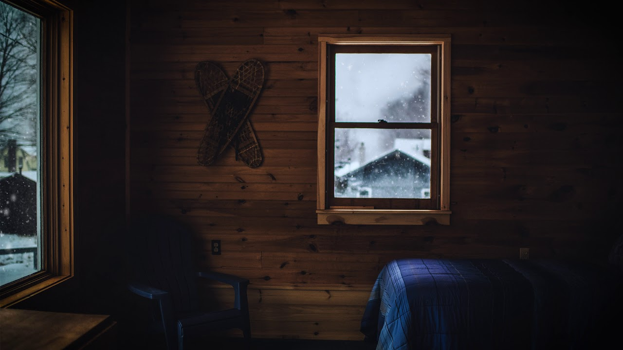 Natural Ambiance Cabin In The Woods Fireplace Wind Creaking