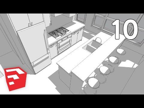KITCHEN ISLAND & FRIDGE - Dramatic Contemporary House Pt. 10