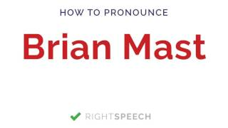 Brian Mast - How to pronounce Brian Mast - American Senator