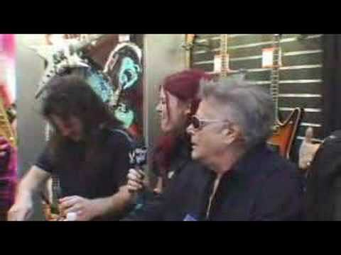More autograph signing at DEAN GUITARS NAMM 2008