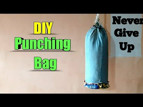 How to make punching bag ( from jeans ) DIY gym at home