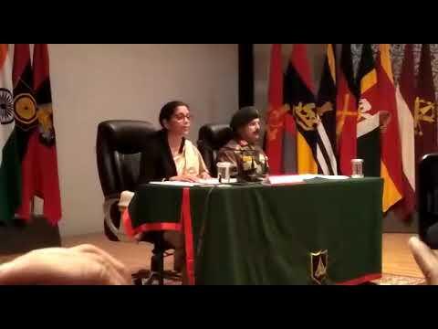 Defence Minister Nirmala Sitharaman addressing the media in Jammu Part 1