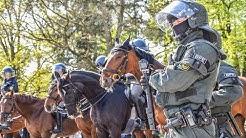 [REPORTAGE] Polizisten in Extremsituation - 1.000 Beamte bei Fussballspiel KSC vs. Waldhof [DOKU]