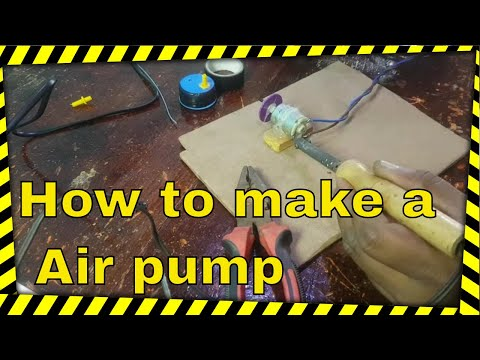 How To Make A Air Pump - Easy To Build - Electric Air Pump - Air Pump For Fish Tank