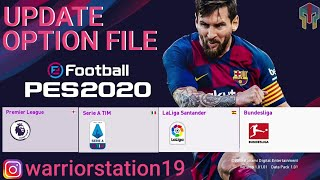 UPDATE PES 2020 PS4 - Option File PES 2020 PS4