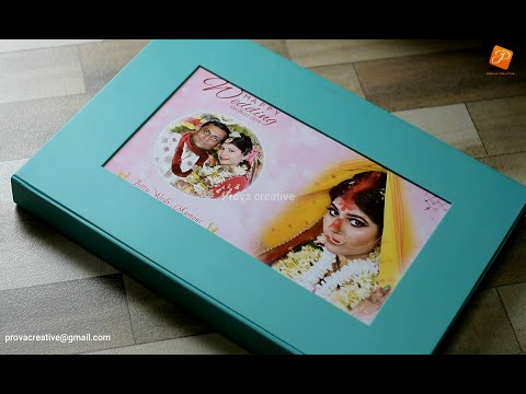 Combo Album unboxing (Front Diamond Touch Cover + Jute Bag + Silky Bag + Box)