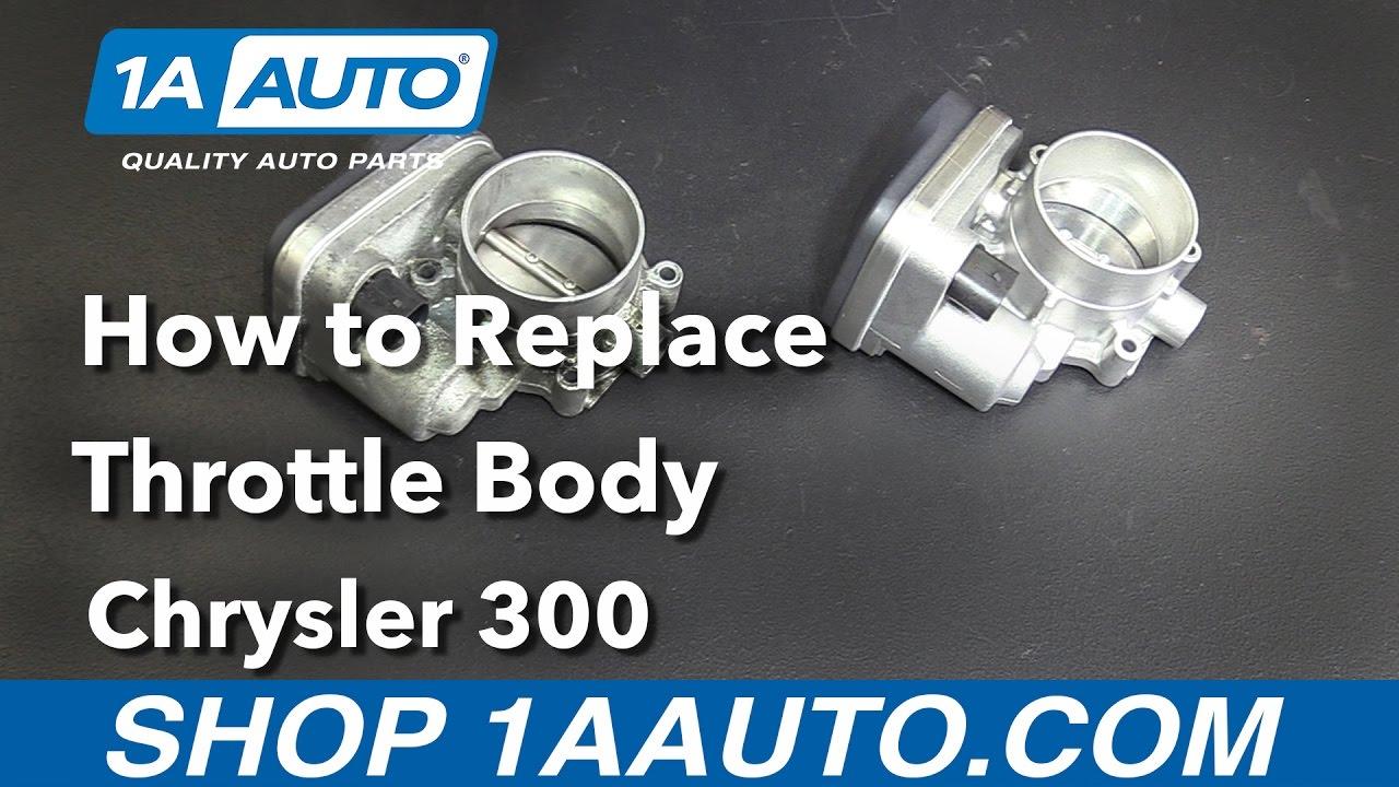 medium resolution of how to replace throttle body 05 10 chrysler 300 youtube throttle body wiring harness 2007 chrysler 300
