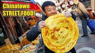 MASSIVE PANCAKE! Chinese STREET FOOD in Seoul CHINATOWN Tour