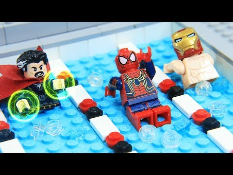 Lego Swimming Pool: Avengers Champions League Endgame | Behind The Battle