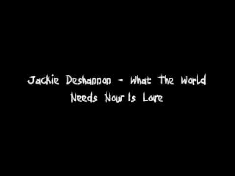 jackie deshannon what the world needs now is love lyrics youtube