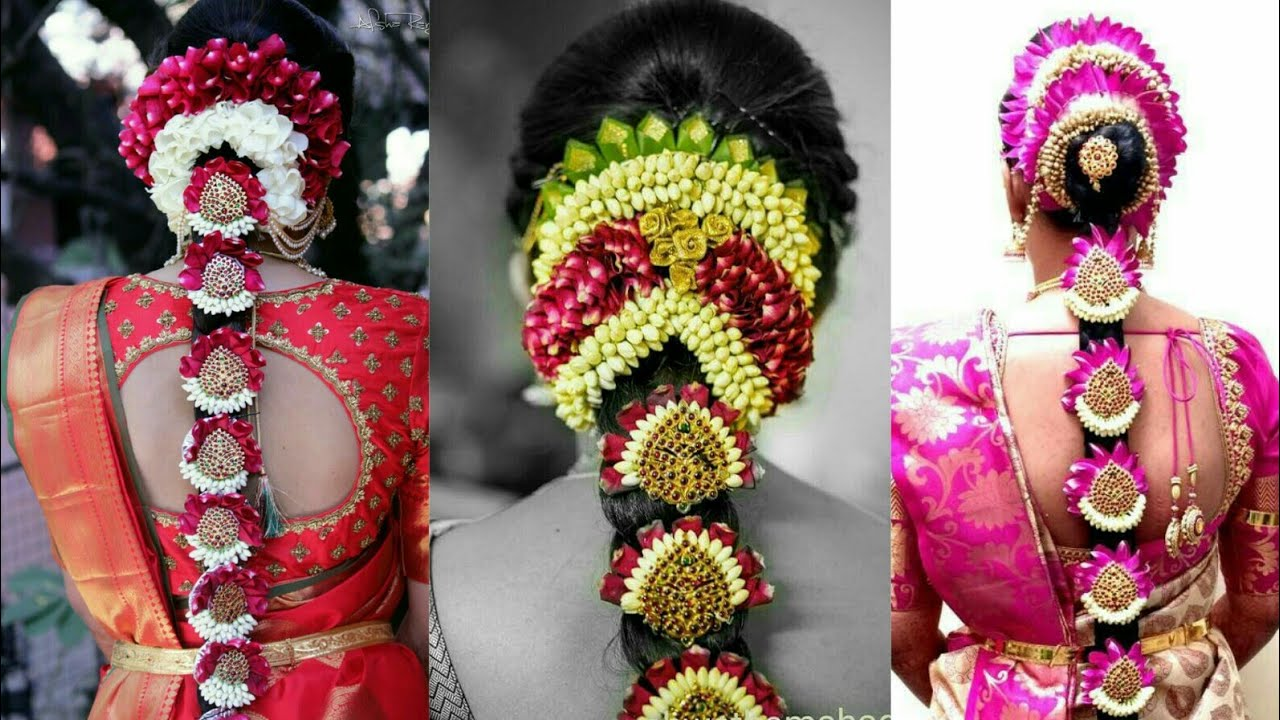 South Indian Bridal Hairstyles Bridal Flower Jewellery