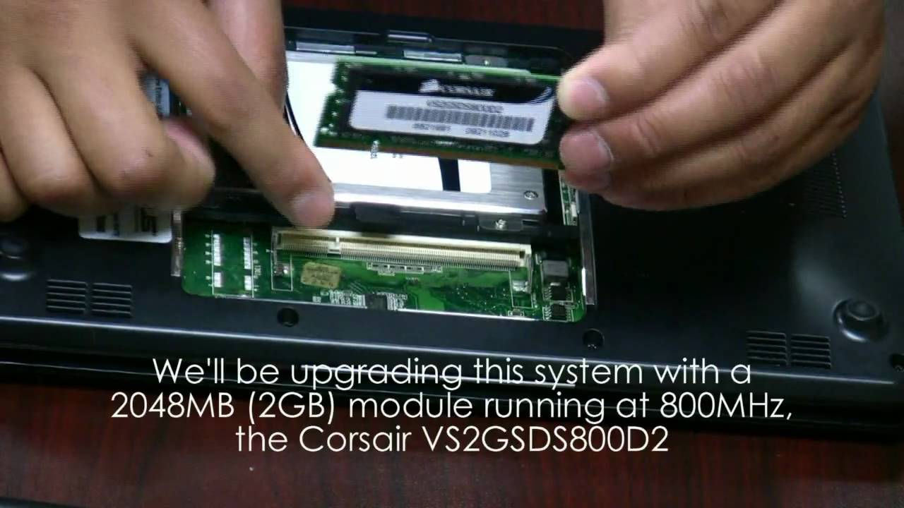 Asus Eee PC Netbook Corsair SSD Drive And RAM Upgrade Installation