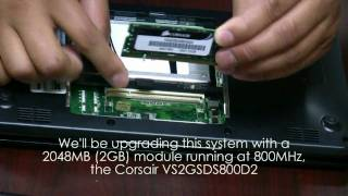 Asus Eee PC Netbook Corsair SSD Drive and RAM Upgrade/Installation Video