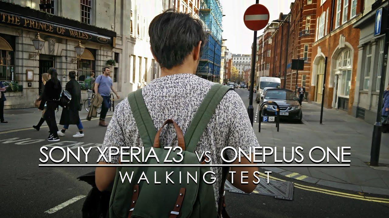 Sony Xperia Z3 vs OnePlus One - Walking test