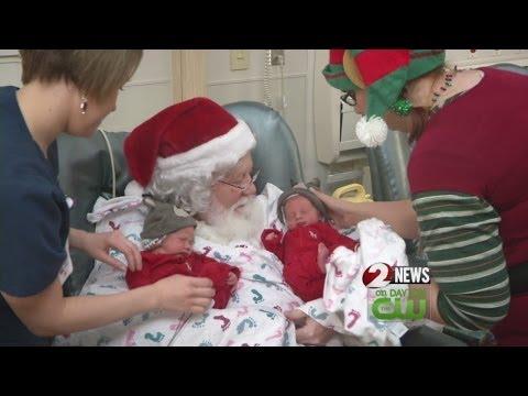 Santa visits preemies at Miami Valley Hospital