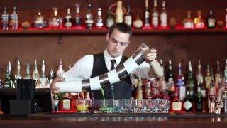 Danish Flair Bartender shows his set of Skills!