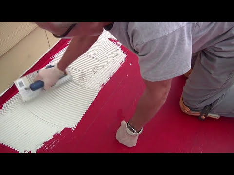 Superieur How To Install Tile On A Concrete Patio Or Porch