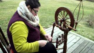 Irish Castle Spinning Wheel