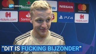 Donny van de Beek na winst op Juventus: