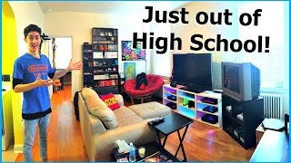 FIRST TIME ON MY OWN! My Gaming/Nintendo Apartment Tour [2017]