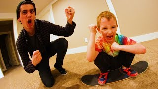 7 YEAR OLD PLAYS ME IN CARPETBOARD S.K.A.T.E?!