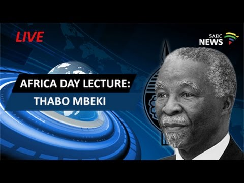 Thabo Mbeki delivers an Africa day lecture on the ICC