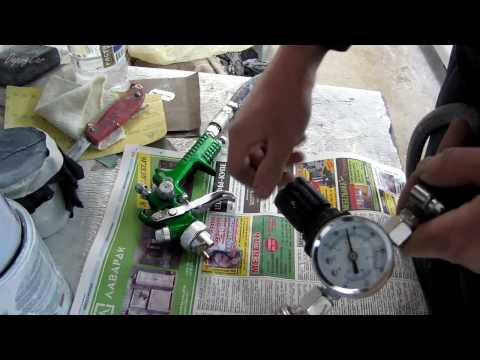 26☼ Как выставить давление на краскопульте
