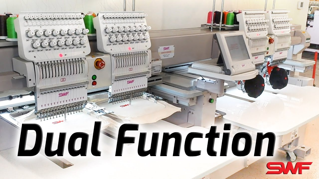 Swf Dual Function Embroidery Machines Youtube