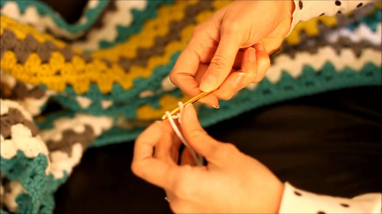 Granny Stitch Crochet Afghan Blanket Tutorial