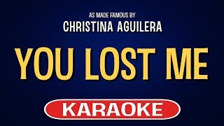 You Lost Me Karaoke Version by Christina Aguilera (Video with Lyrics)