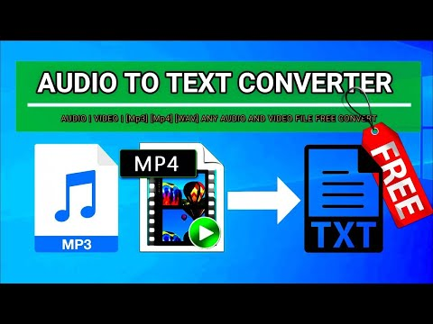 AUDIO TO TEXT CONVERTER [100 FREE] [Mp3] [WAV] [Mp4] UNLIMITED!!!