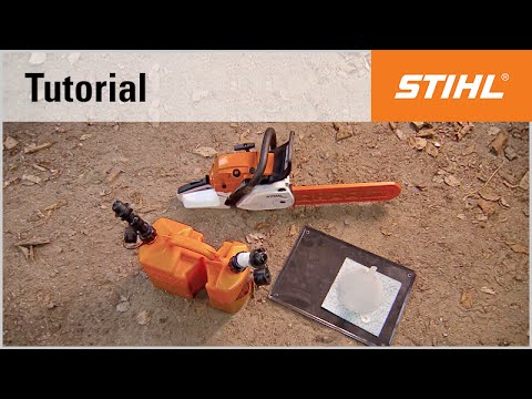 Preparing a STIHL chainsaw for longer periods of downtime