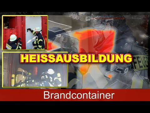 Brandcontainer Ausbildung (Teil 1/3) - Türöffnung, Rauchverschluß und Hitzegewöhnung