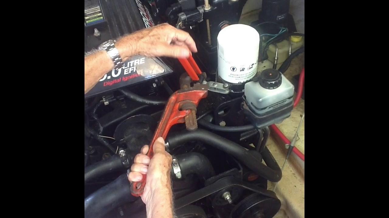 Easily remove stuck oil filter mercruiser