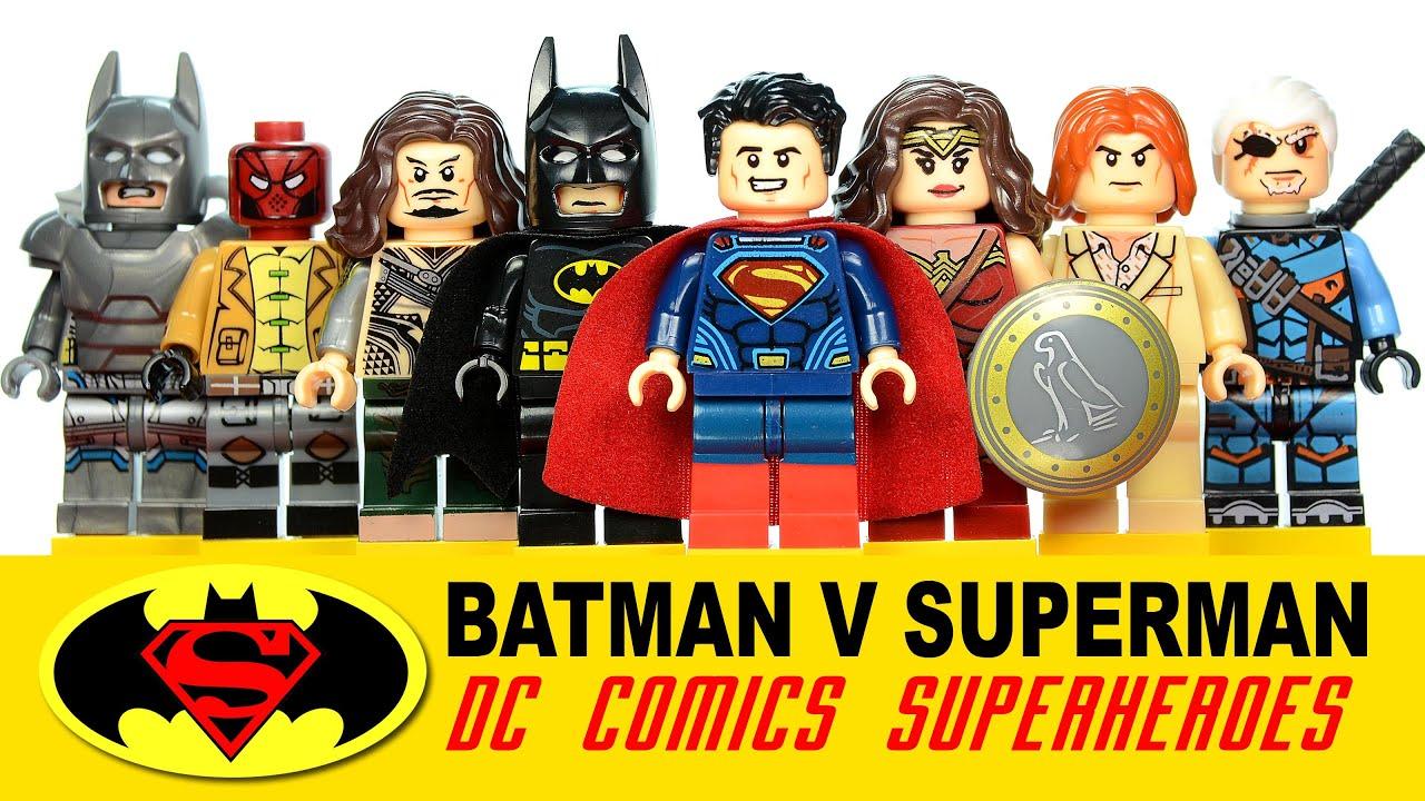 Batman v Superman Dawn of Justice DC Super Heroes LEGO KnockOff ...